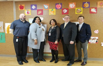 State Representative and Policy Specialist visit VVEC