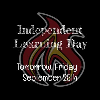 Special Learning Day Tomorrow - Friday September 25
