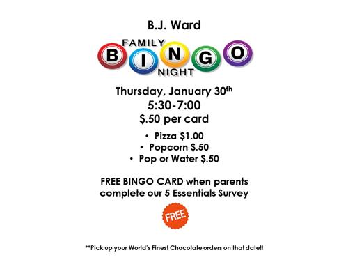 Please join us for BINGO night