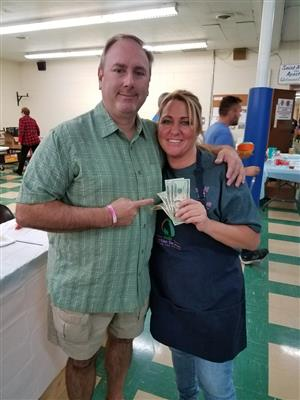 Manager Mary Zahour takes 2nd in Chili Cook Off.
